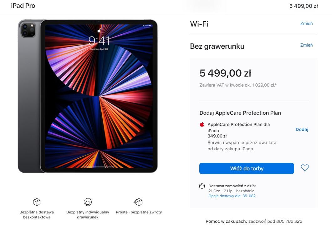 iPad Pro dostępność