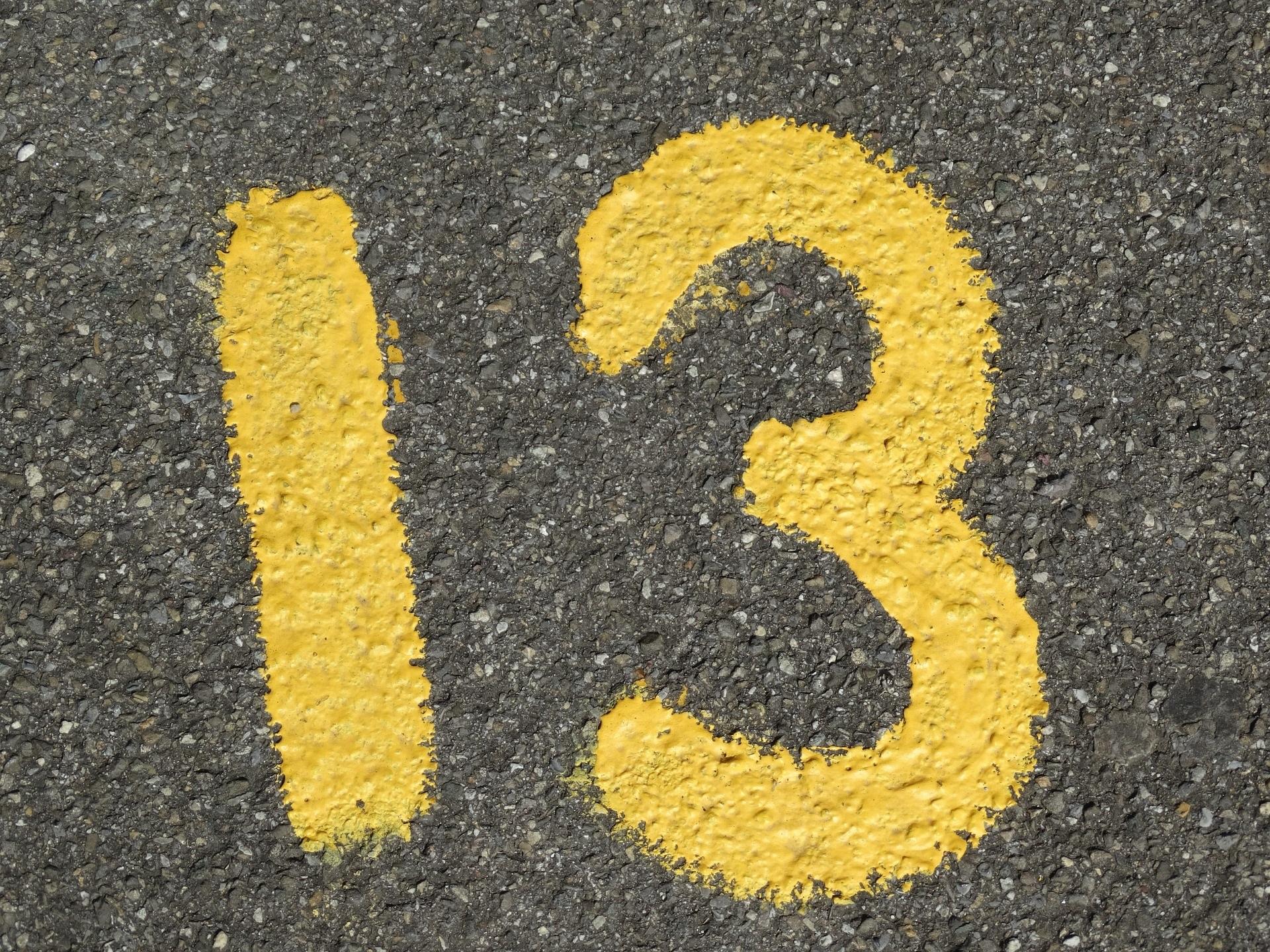 liczba cyfra 13