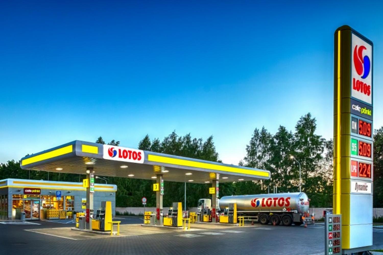 stacja paliw benzynowa Lotos