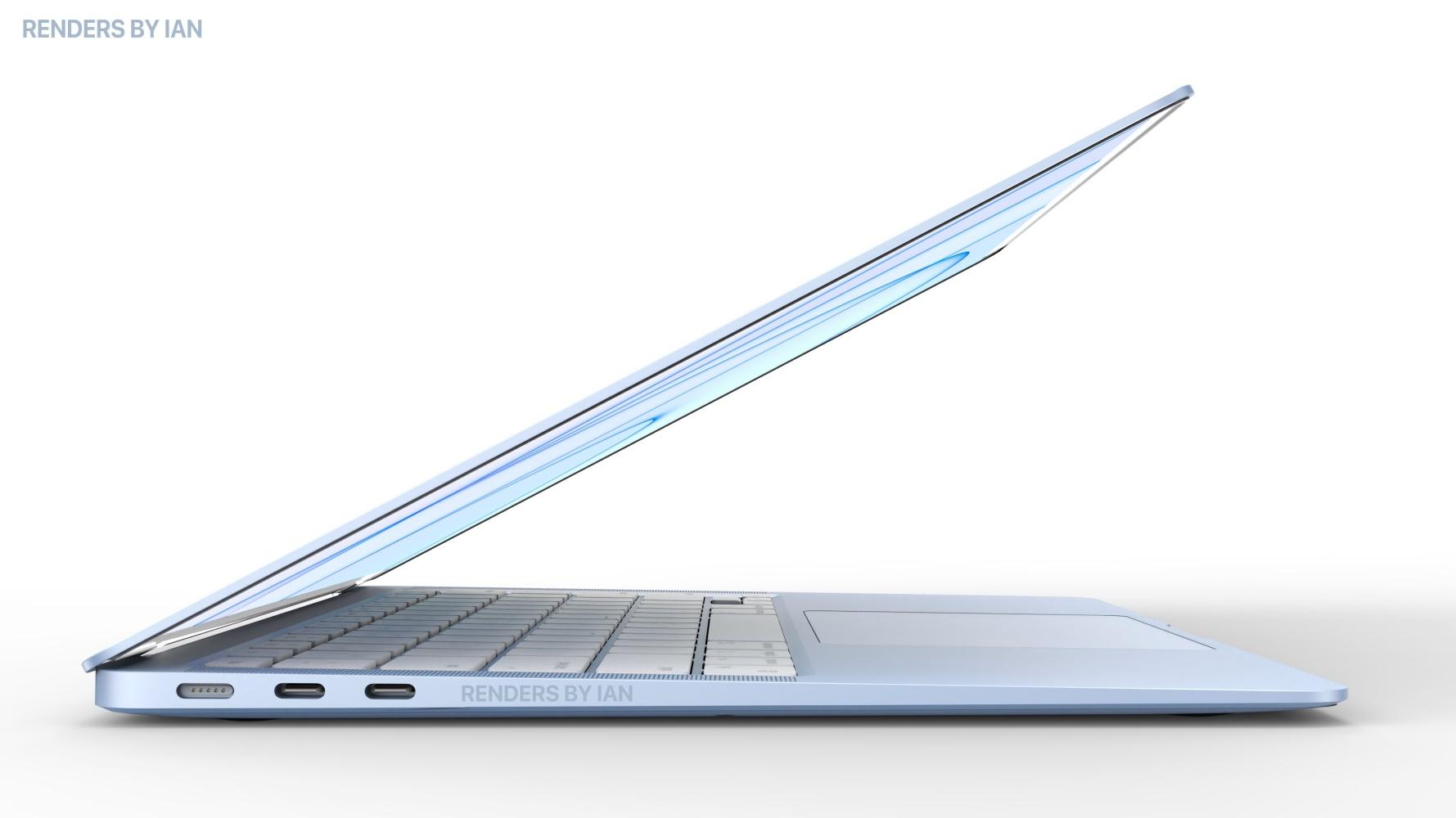 MacBook Air Apple M2 niebieski render