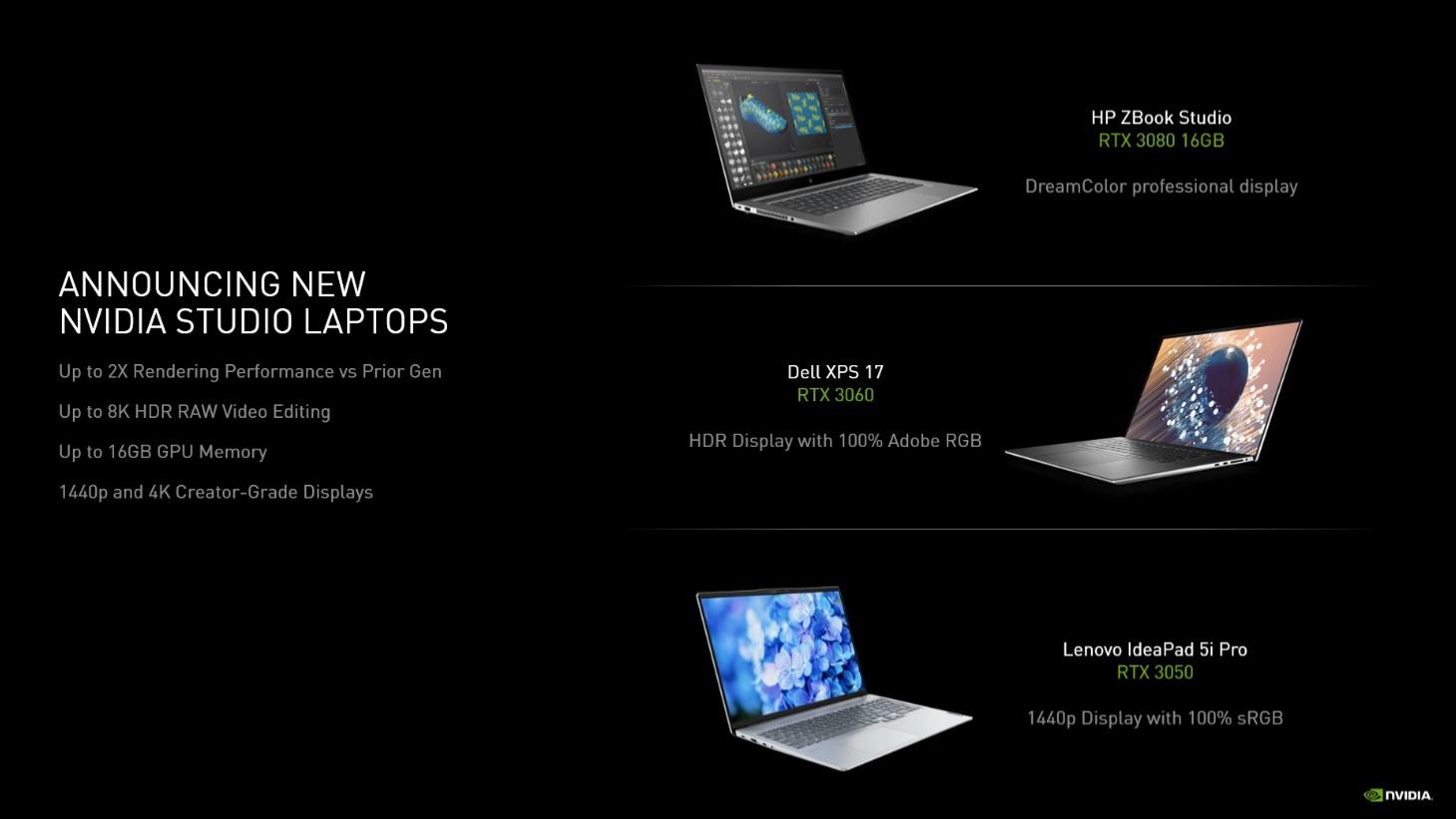 NVIDIA RTX 3050 i RTX 3050 Ti laptopy