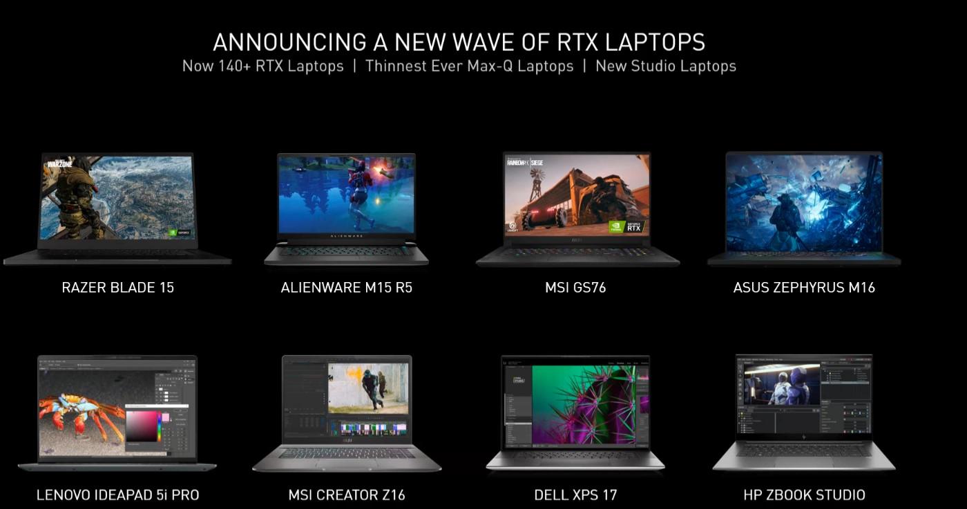 NVIDIA RTX laptopy