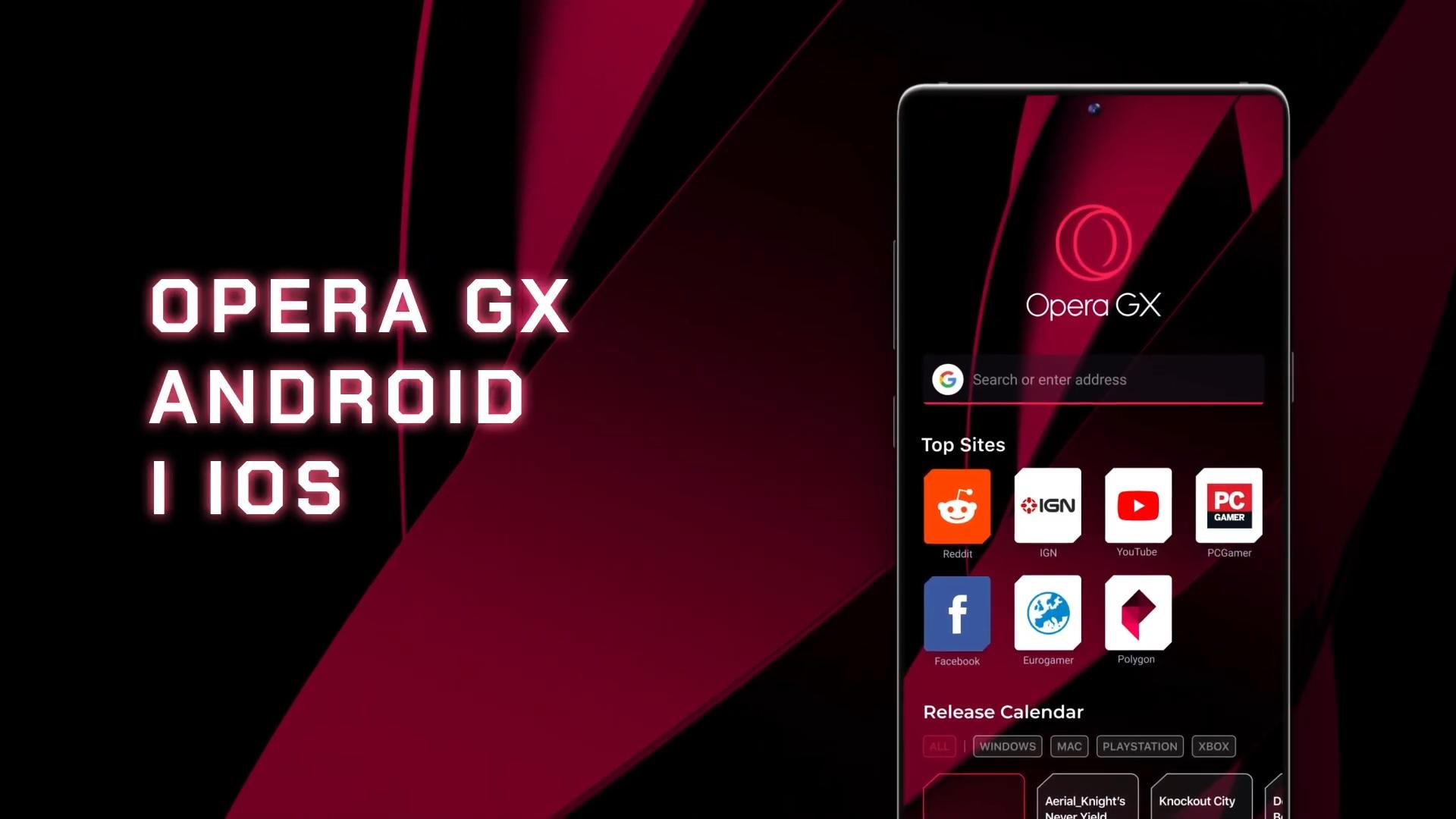 prezentacja przeglądarki opera gx mobile