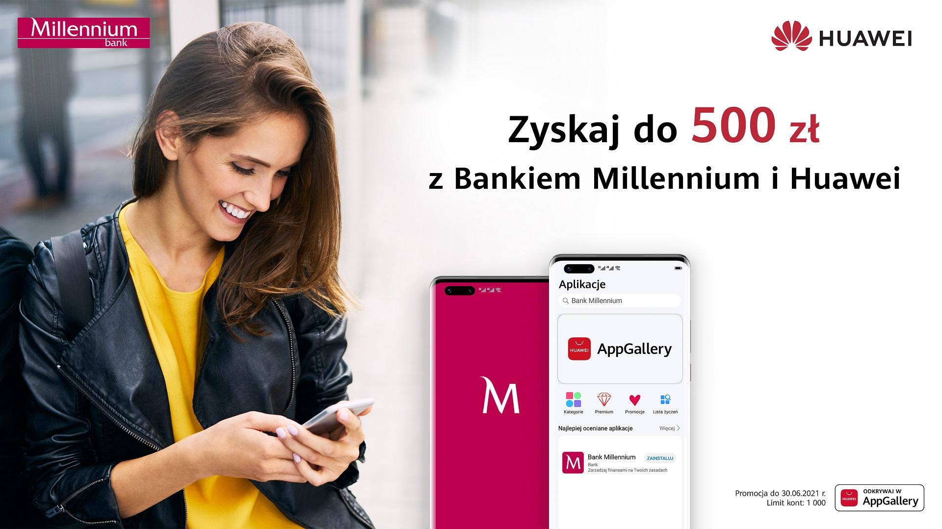 promocja Huawei Millennium premia do 500 złotych
