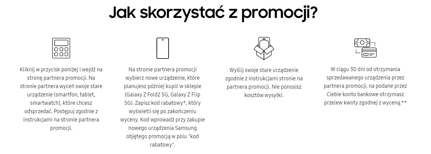 promocja Samsung Galaxy Z Fold 2 Galaxy Z Flip 5G odkup do 1000 złotych taniej