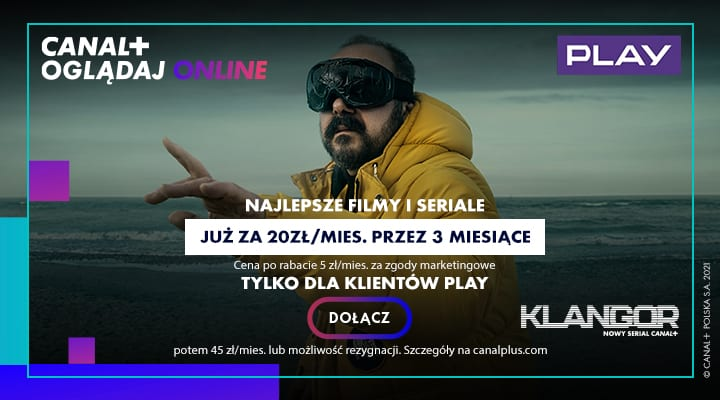 baner reklamowy promocji w Play na CANAL+Online