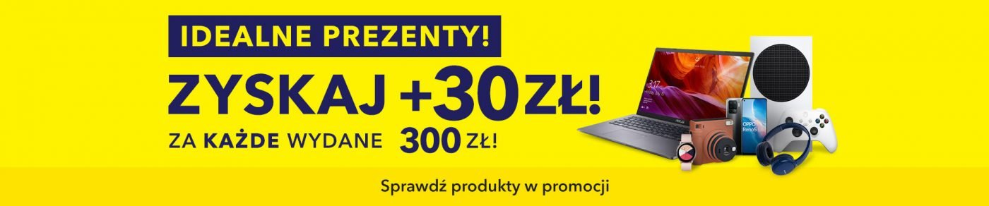 promocja zyskaj 30 złotych za każde wydane 300 złotych Media Expert