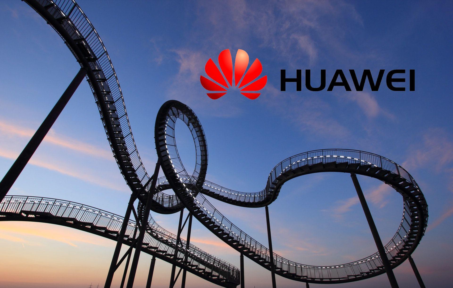 rollercoaster kolejka górska Huawei logo
