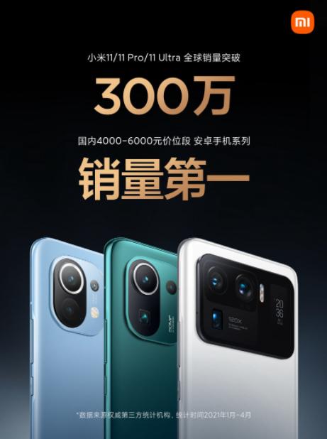 Xiaomi Mi 11 3 miliony sprzedanych egzemplarzy