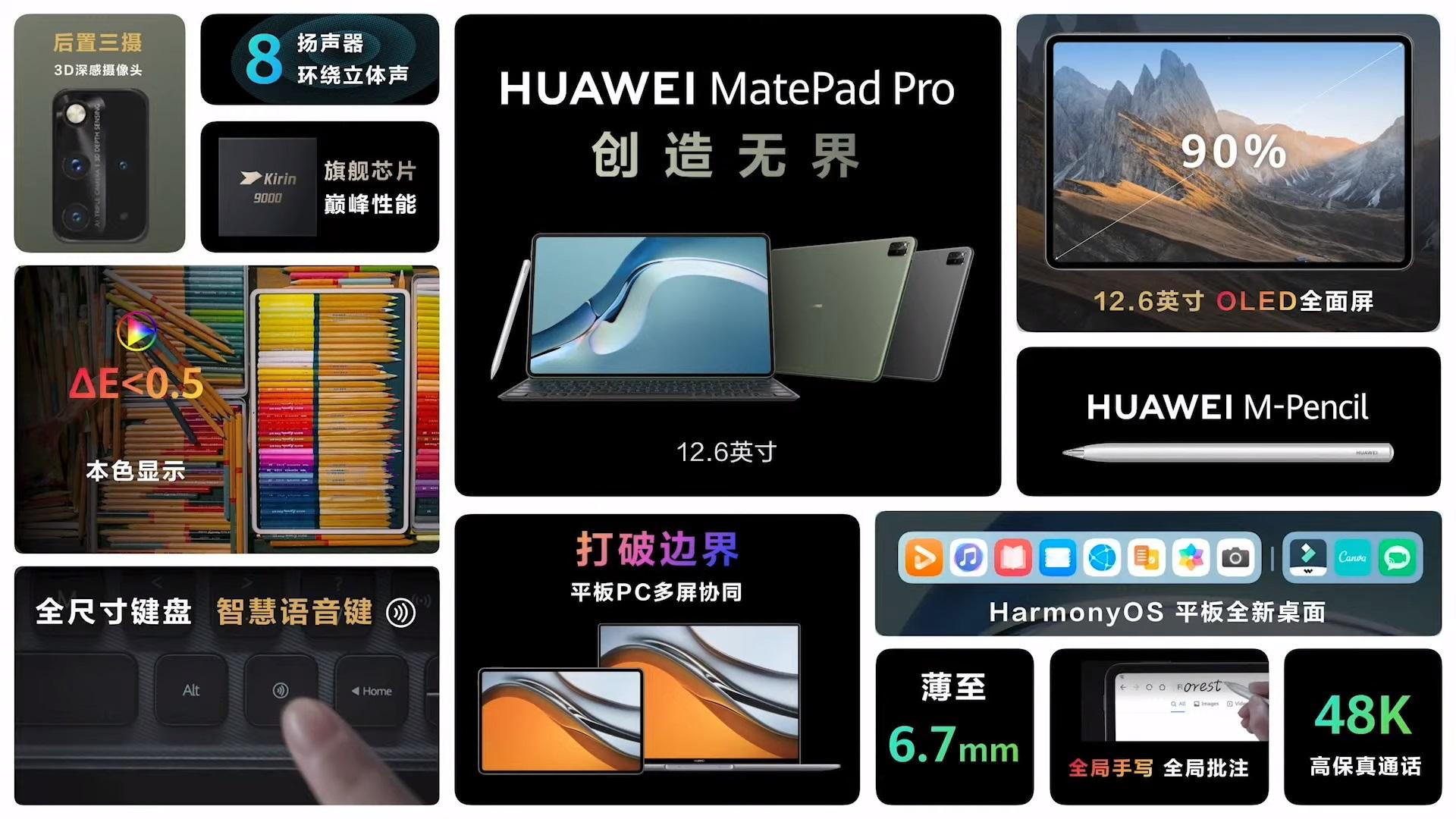 Huawei MatePad Pro 12.6 tablet HarmonyOS