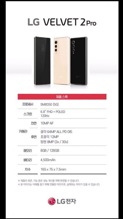 smartfon LG Velvet 2 Pro smartphone