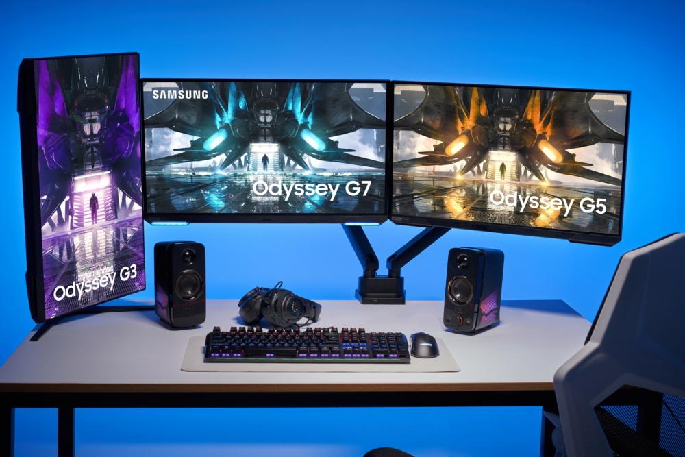 Seria Samsung Odyssey coraz bardziej się powiększa. Samsung zaprezentował nowe monitory