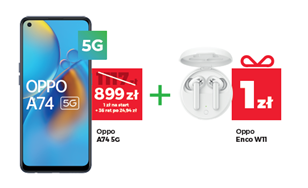 Plus promocja Wakacje 2021 Oppo A74 5G