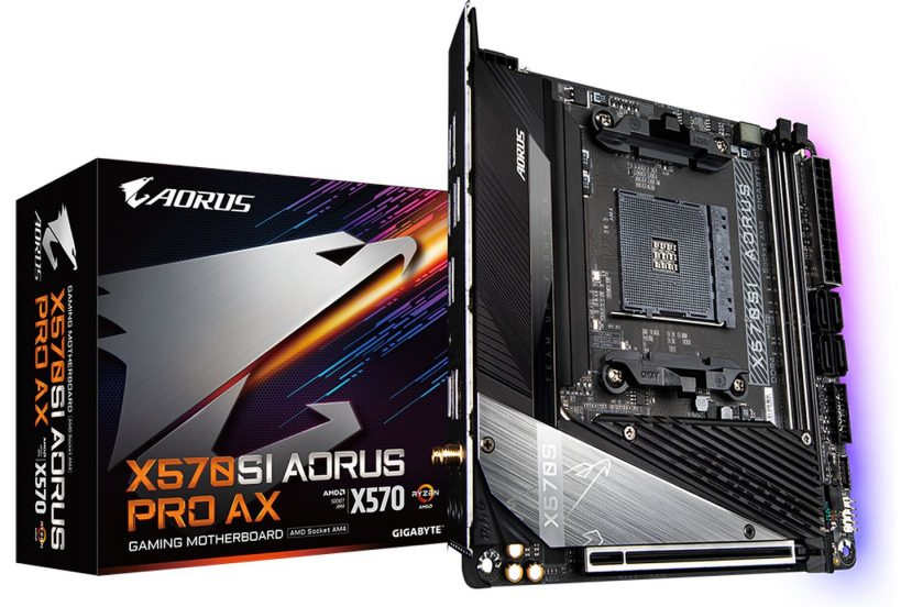 opakowanie X570SI Aorus Pro Ax