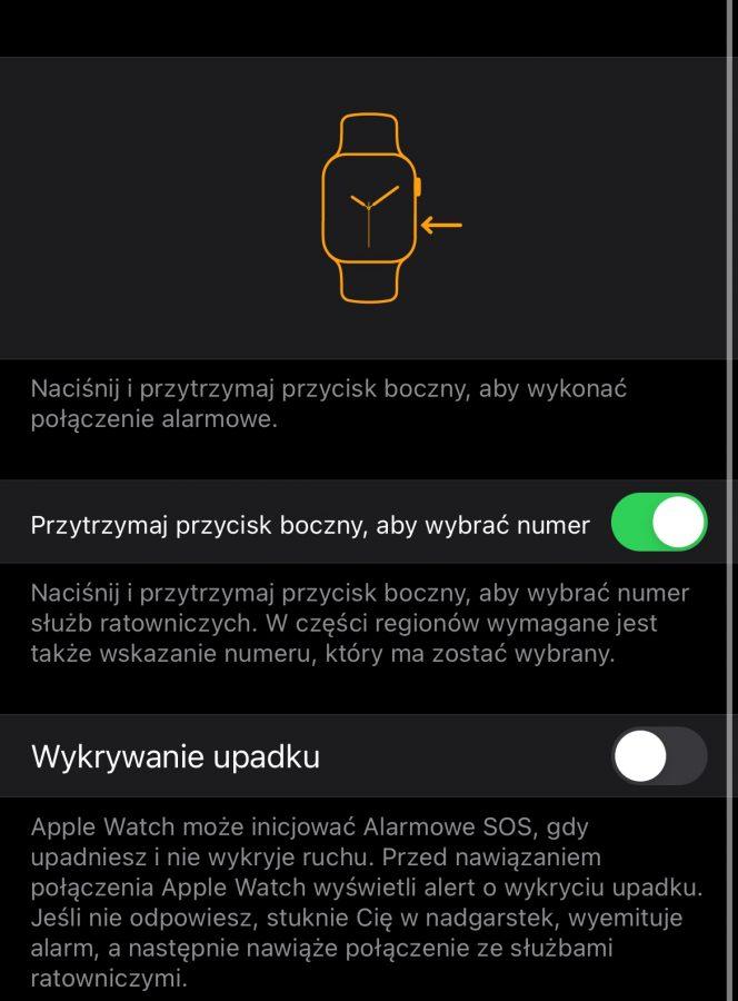 Apple Watch alarmowe SOS