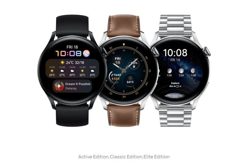 Huawei Watch 3 z HarmonyOS, rodzaje