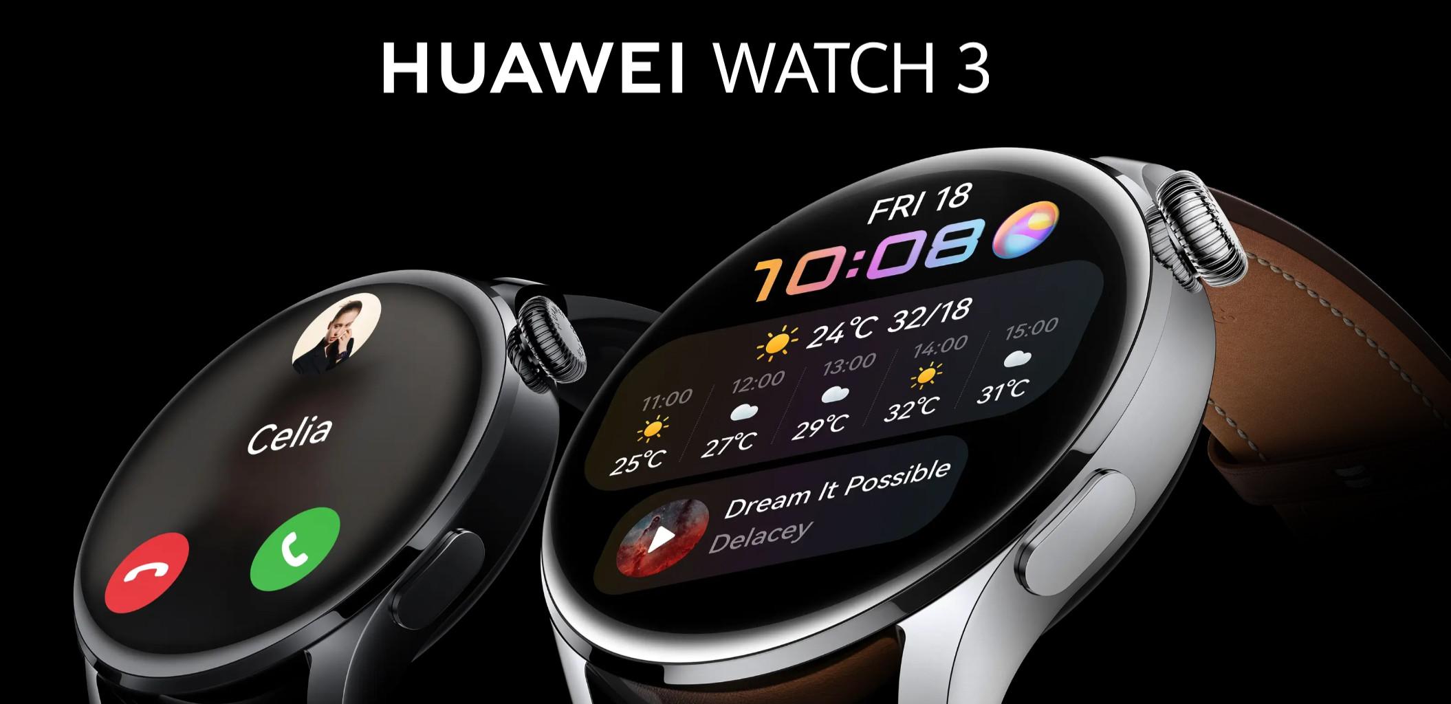 Huawei zaktualizował HarmonyOS w zegarkach Watch 3. W końcu odpowiemy z nich na wiadomości!