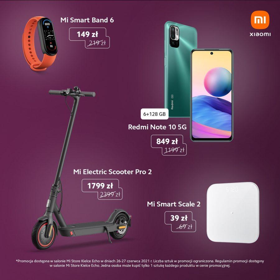 lista promocji na otwarcie Xiaomi Mi Store w Kielcach
