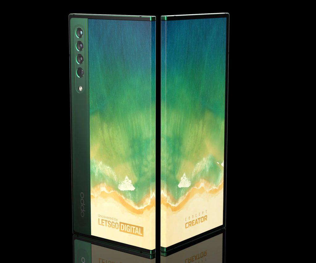 smartfon oppo z zawijanym ekranem grafika koncepcyjna oppo smartphone with wrap-around display concept art