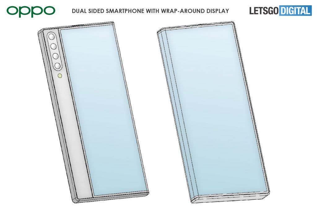 smartfon oppo z zawijanym ekranem patent oppo smartphone with wrap-around display patent