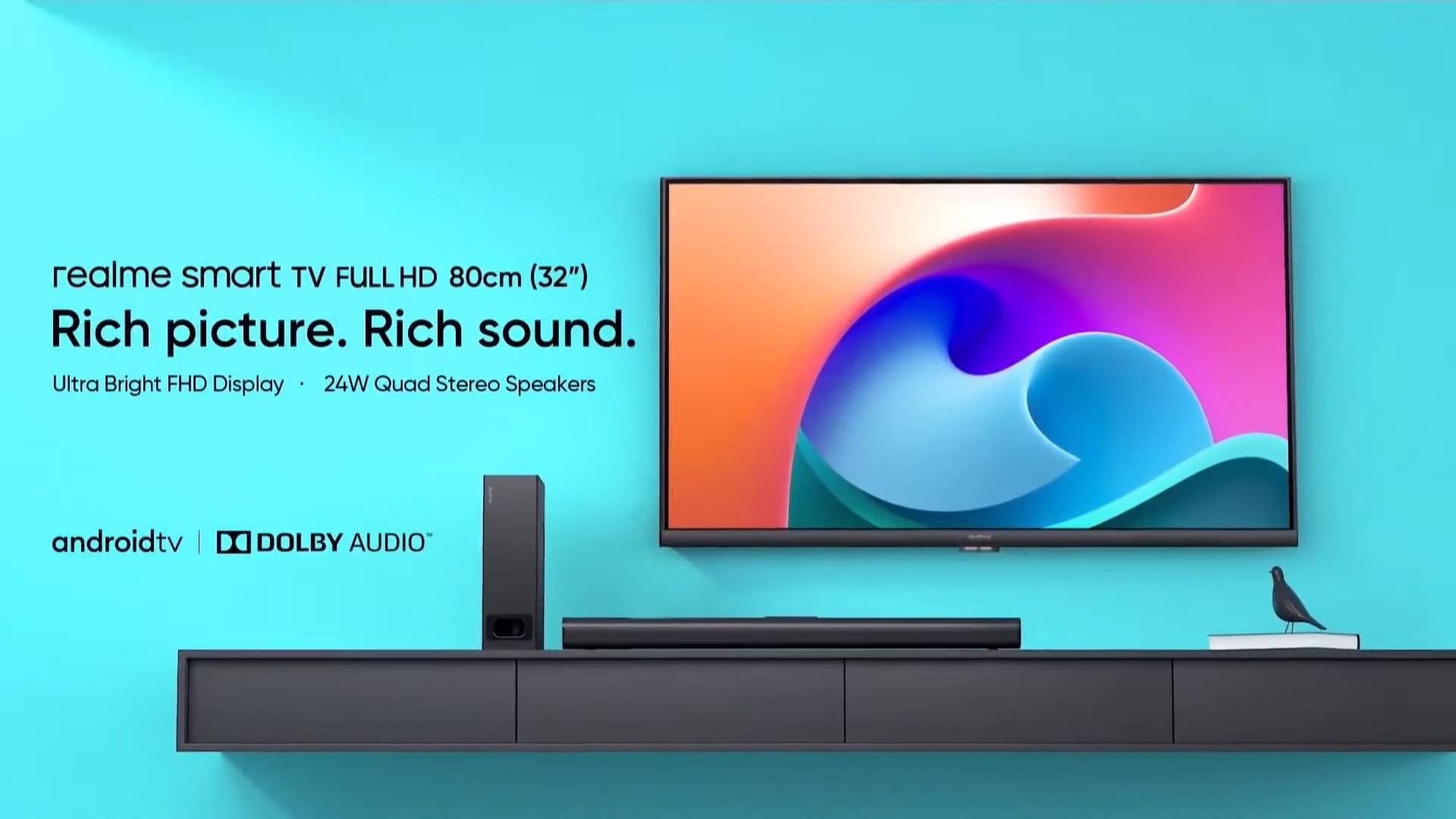 realme smart TV Full HD 32 inch