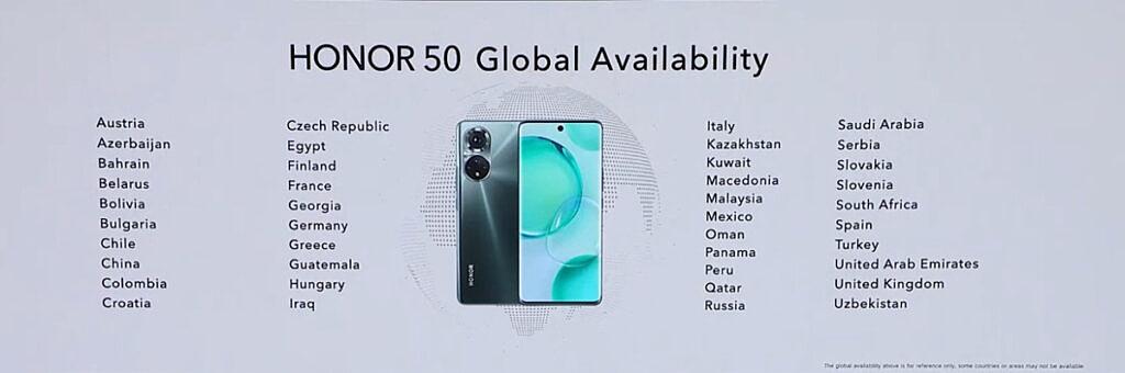 seria Honor 50 globalna dostępność