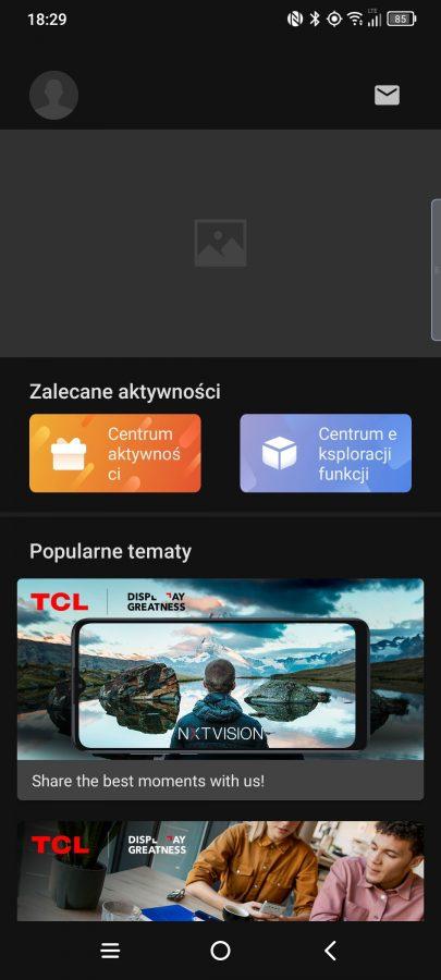 Recenzja TCL 20 Pro - System TCL UI - fot. Tabletowo.pl