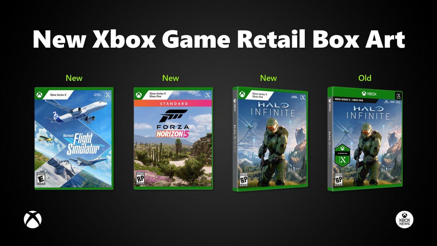 Pudełka Xboxa już były schludne, ale teraz to już w ogóle klasa. Zwróćcie uwagę na to, że Forza Horizon 5 także będzie grą międzygeneracyjną (źródło: Xbox)