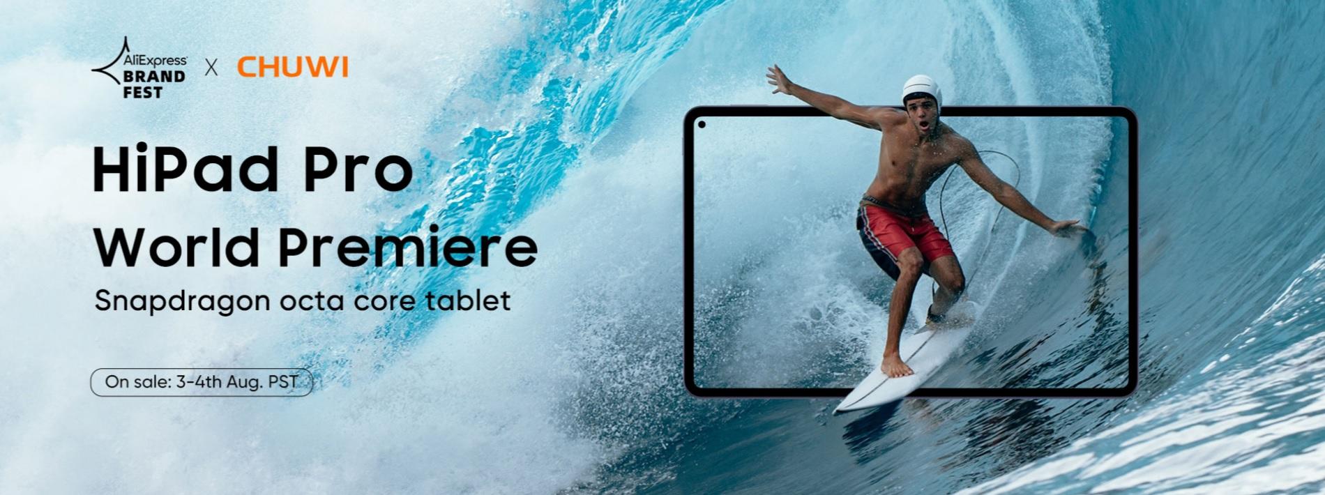 Chuwi HiPad Pro tablet world premiere