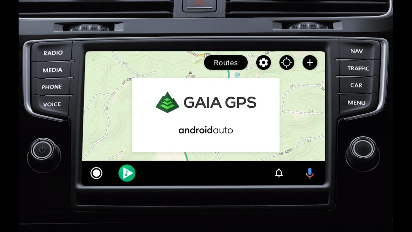 Gaia GPS Android Auto