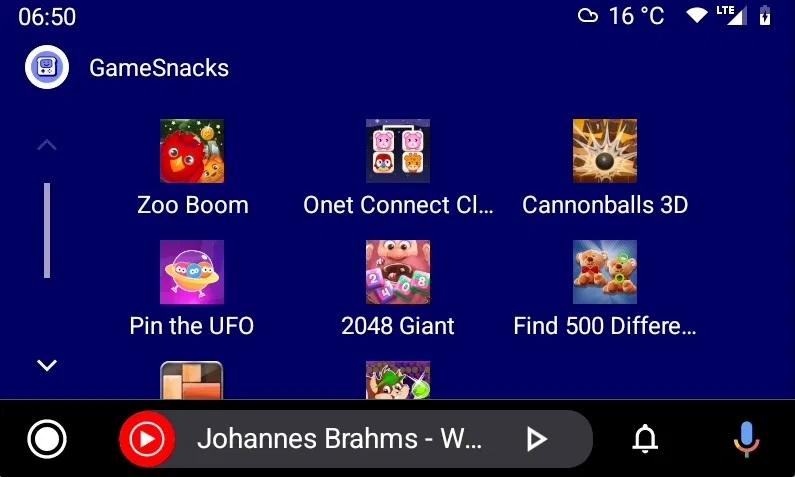 android auto 6.7 gamesnacks beta