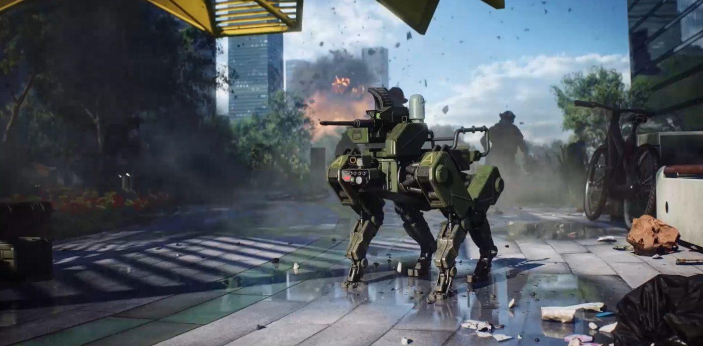 A to jest Szarik - pies robot w Battlefield 2042. Każda dobra gra przecież musi teraz mieć pieska