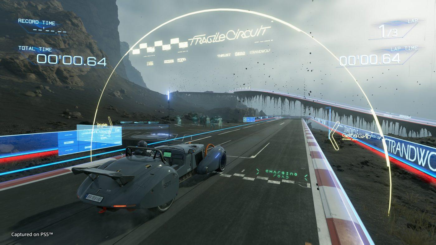 Wyścigi w Death Stranding? Eeeee.... (źródło: PlayStation Blog)