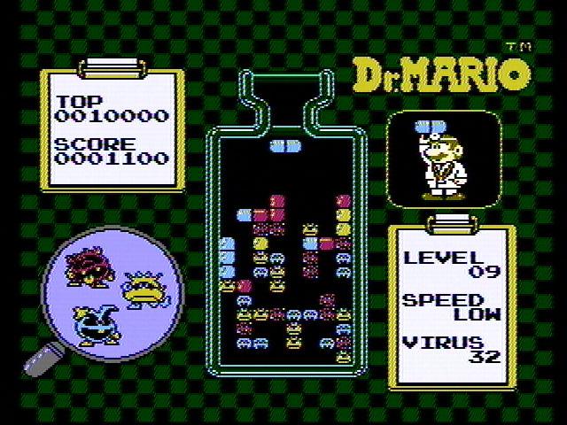 Obrazki, które się słyszy. Dr Mario to z pewnością jedna z lepszych gier na oryginalny system Nintendo (źródło: Moby Games)