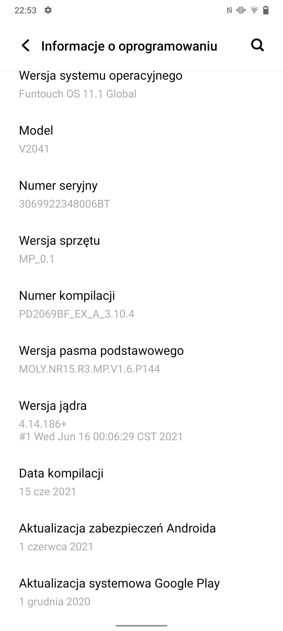 Recenzja Vivo Y72 5G - System Funtouch OS 11 - fot. Tabletowo.pl