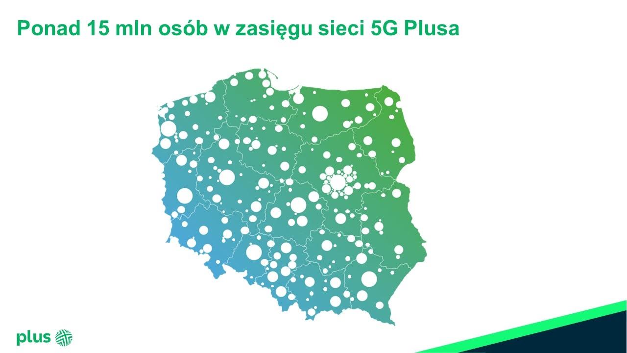 5G Plusa obejmuje zasięgiem już ponad 15 mln mieszkańców Polski