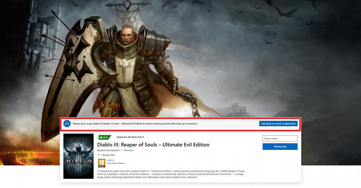 Diablo III Reaper of Souls Diablo 3 Xbox za darmo 1