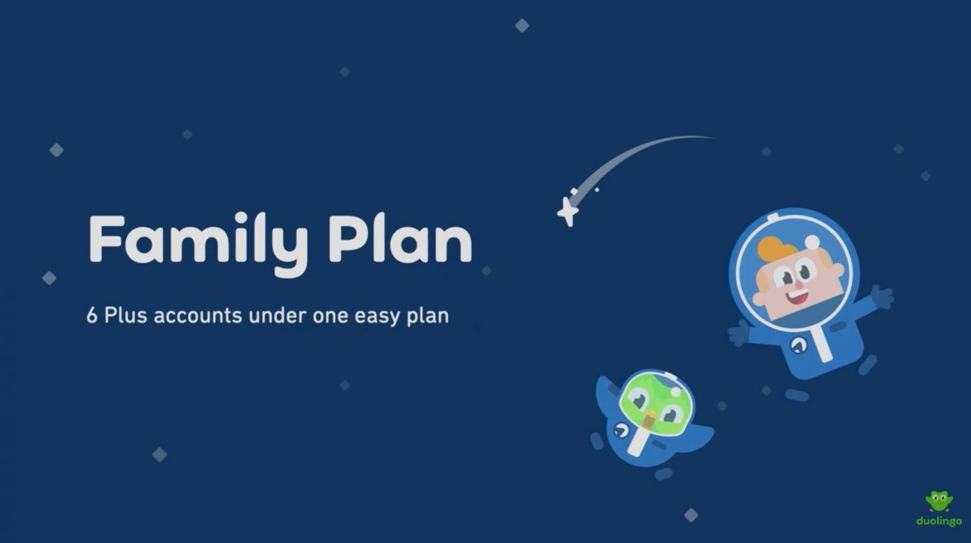 Duolingo plan rodzinny