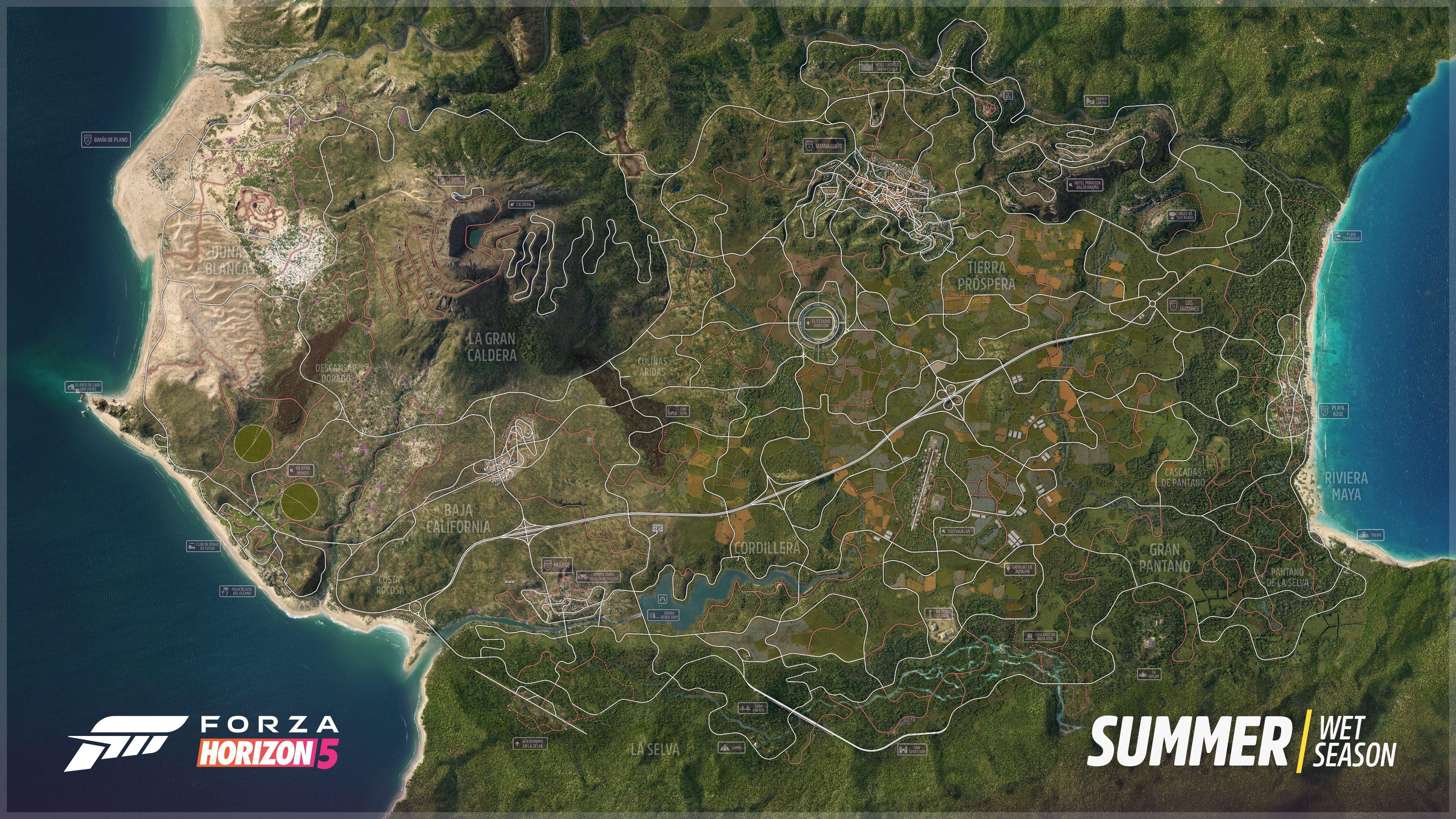 Oficjalna mapa Forza Horizon 5 - Meksyk - fot. Microsoft