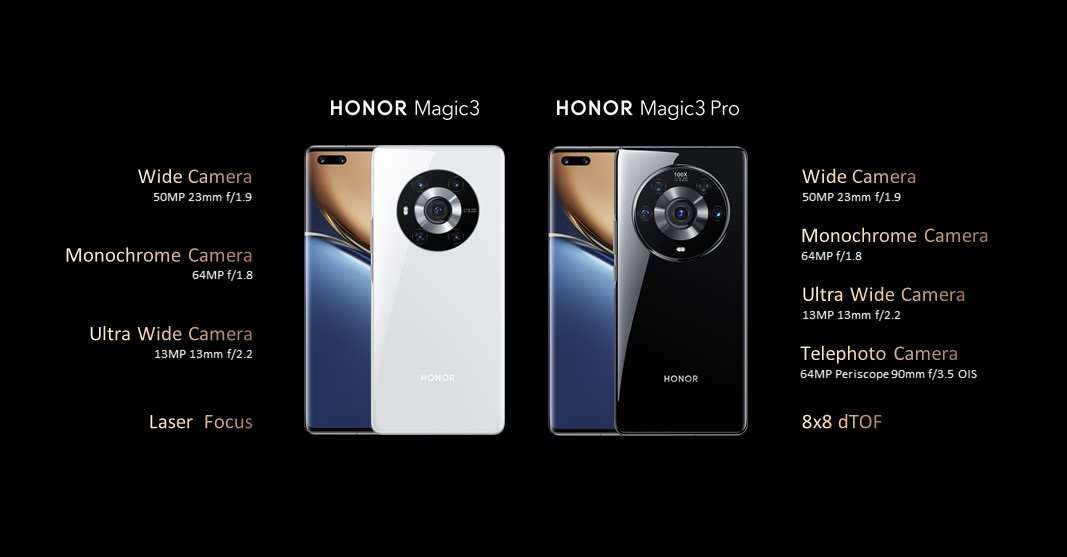 smartfon Honor Magic 3 Pro smartphone camera