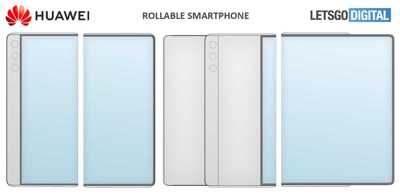 Huawei składany smartfon patent
