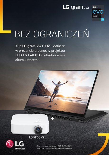 LG Gram 2w1 14 projektor LG PF50KS
