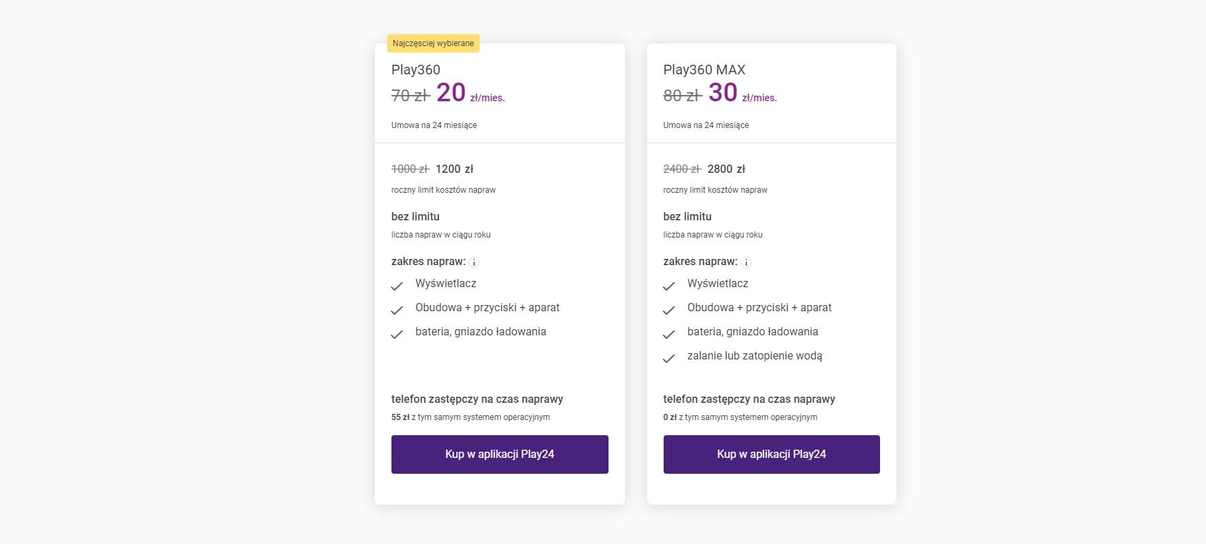Play360 oferta 2021 cennik