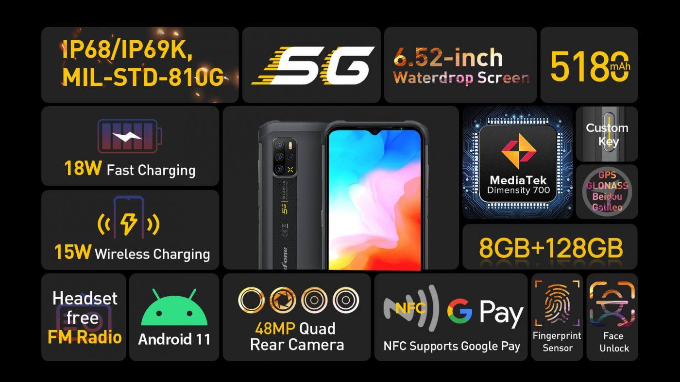 smartfon Ulefone Armor 12 5G smartphone specs