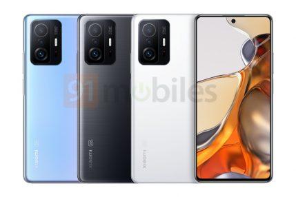 Xiaomi 11T Pro render