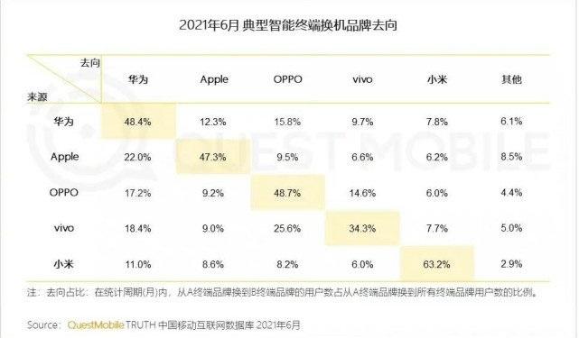 Xiaomi Apple Oppo Vivo lojalność klientów w Chinach ankieta 2021