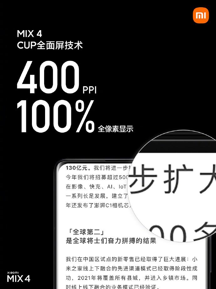 Xiaomi Mi MIX 4 Camera Under Panel CUP