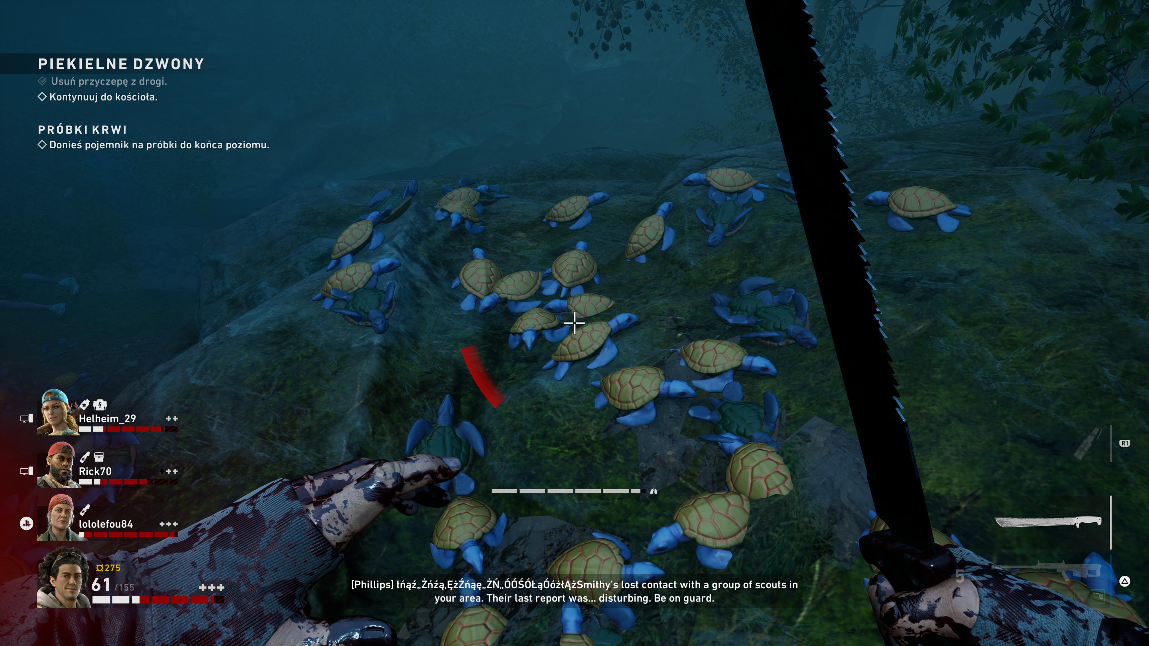Żółwie na skałach. Bo wiecie, Turtle Rock, hehe.