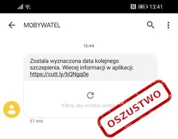 fałszywa aplikacja mObywatel SMS