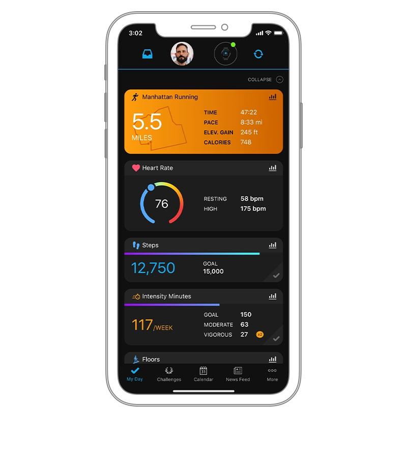 aplikacja garmin connect app